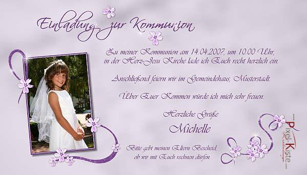 Einladungskarten zur Kommunion, Konfirmation, Firmung