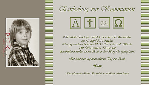 einladungskarten kommunion konfirmation