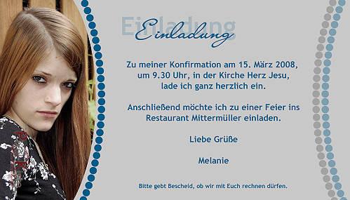 Einladungskarte Zur Konfirmation ...